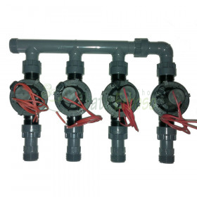 """coll-ez-flo-plus4 - Manifold from 1"""" to 4 zones"""