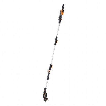 WG349E - Telescopic pruner with 20V battery